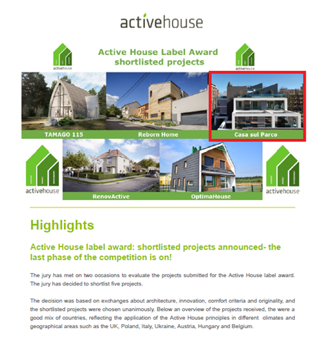 Active House Label Award